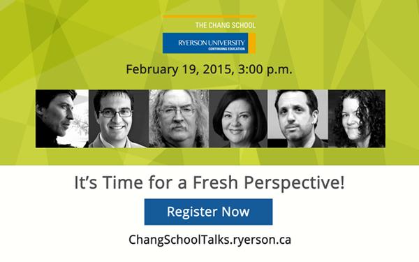 ChangSchoolTalks 2015 - Lifelong Learning Reimagined