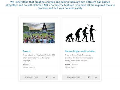 Screenshot of ScholarLMS