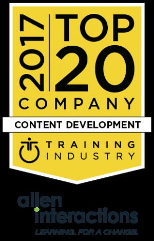 Allen Interactions Named A 2017 Top 20 Content Development Company